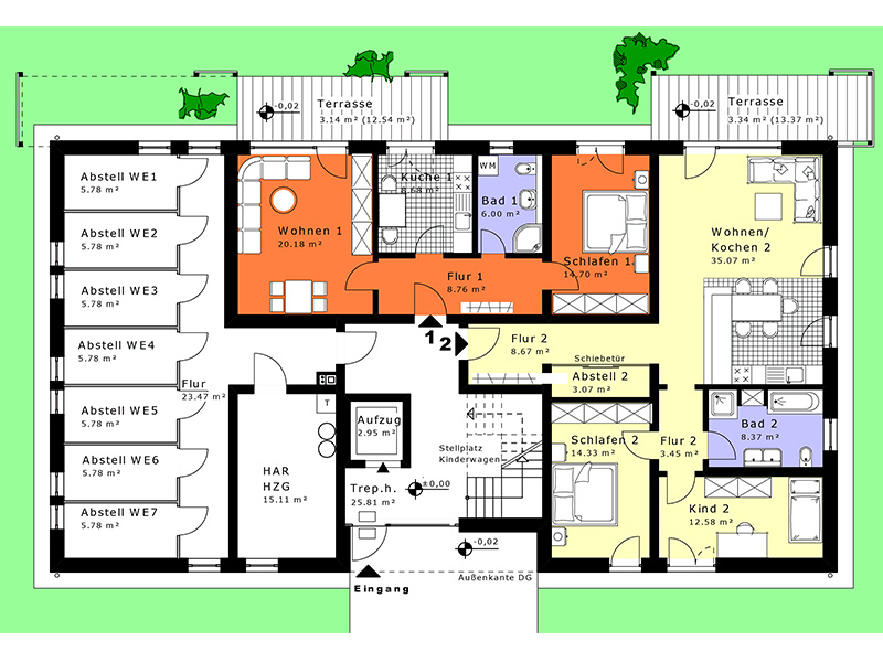 neubau mehrfamilienhaus dipl ing architekt tobias winkler. Black Bedroom Furniture Sets. Home Design Ideas